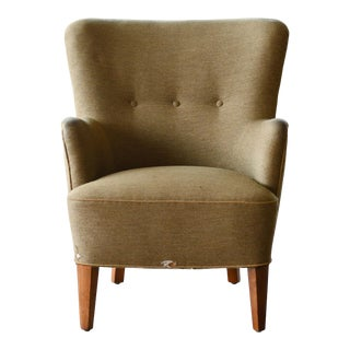 Peter Hvidt Orla Molgaard Style Classic Danish 1950s Lounge Chair For Sale