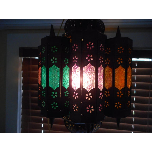 Vintage Moroccan Lighting Fixture For Sale - Image 4 of 9