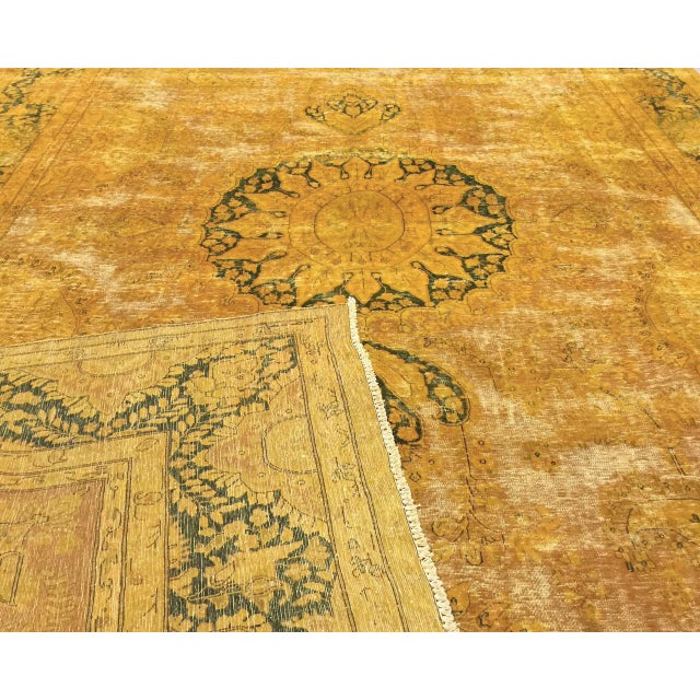 "Contemporary Vintage Persian Overdyed Rug - 9'9"" x 14'1"" For Sale - Image 3 of 3"