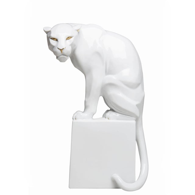 Augarten White Panther by Franz Barwig For Sale - Image 4 of 4