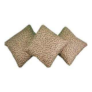 Leopard Print Pillows - Set of 3 For Sale