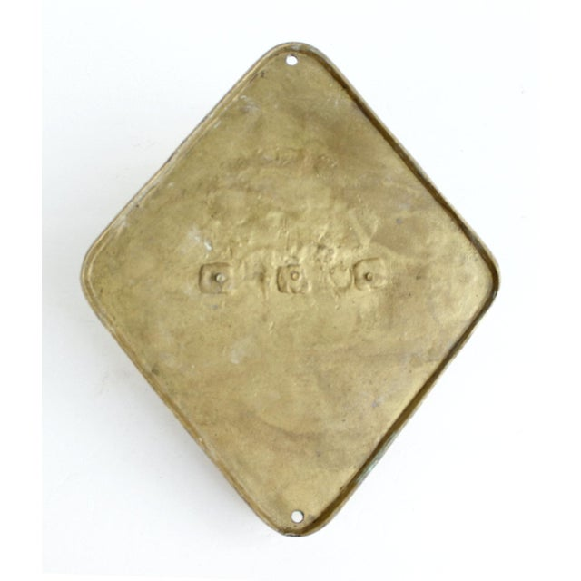 Vintage Mid-Century Brass Double Wall Towel Hook - Image 6 of 6