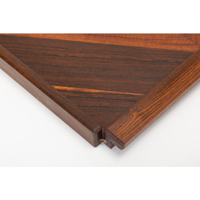 Diamond Motif Rosewood Tray by Don Shoemaker for Señal For Sale In Los Angeles - Image 6 of 9
