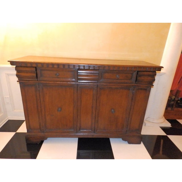 Wood 19th Century Spanish Colonial Solid Wood Sideboard For Sale - Image 7 of 7