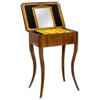 Biedermeier Sewing Table, a Classic of the Style, circa 1860 For Sale