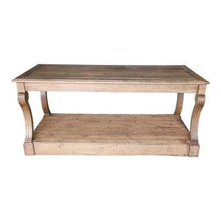 19th Century Oak French Draper's Table