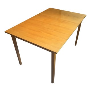 Mid-Century Modern Wood Scan Dining Table