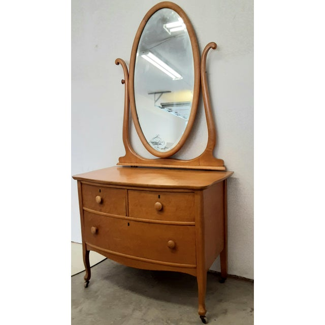Brown Early 20th Century Maple Vanity Dresser For Sale - Image 8 of 8