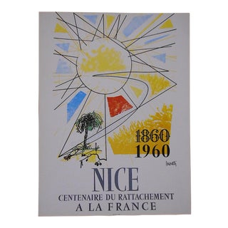 Vintage Posters by Listed Artists-Nice, France C.1973 For Sale