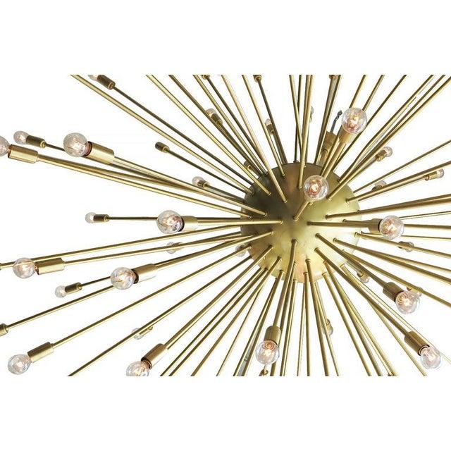 Mid-Century Modern Mid-Century Style Brass Sputnik Chandelier For Sale - Image 3 of 9