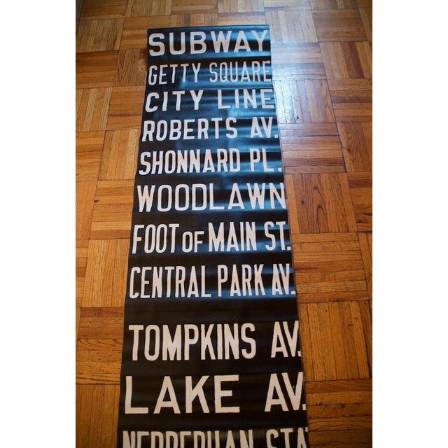Americana Pre-War New York Trolley Scroll For Sale - Image 3 of 7