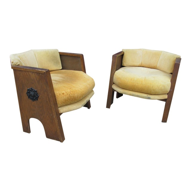 Adrian Pearsall for Mastercraft Pair of Chairs For Sale