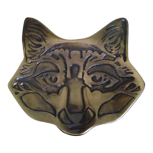 Vintage Brass Fox Catch All Tray - Image 1 of 11