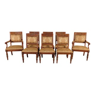 1990s Vintage Henredon Grand Provenance Collection Dining Chairs - Set of 8 For Sale