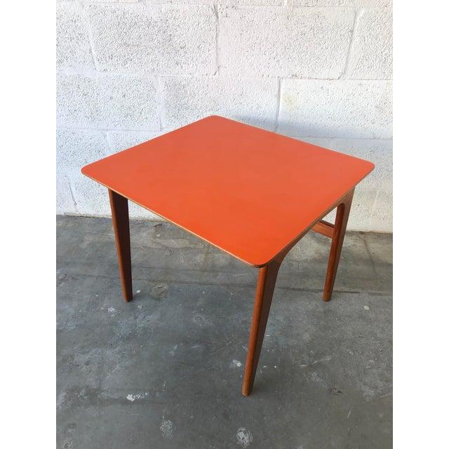 Burnt Orange Vintage Mid-Century Danish Modern Nesting Tables (Set of Two) For Sale - Image 8 of 13