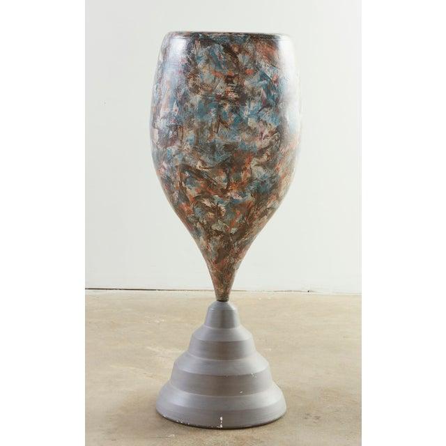 Postmodern Ceramic Floor Vase by Marvin Bjurlin For Sale - Image 4 of 4