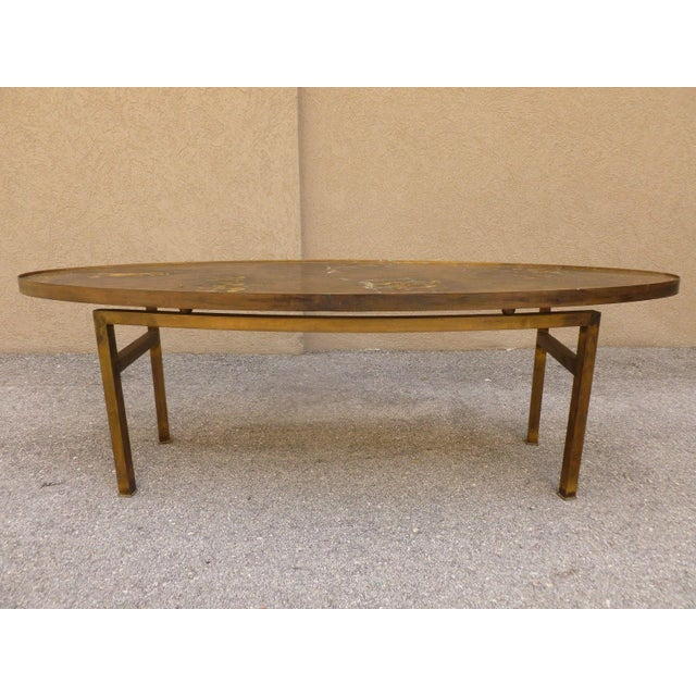 1960s 1960's Vintage Philip and Kelvin Laverne Chinese Design Bronze Coffee Table For Sale - Image 5 of 13