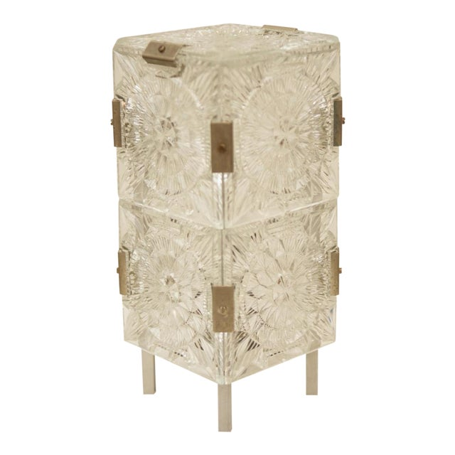 Mid Century Pressed Table Lamp For Sale