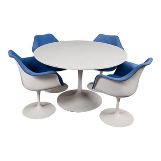 Mid-Century Modern Saarinen for Knoll Marble & Cast Iron Tulip Dining Set