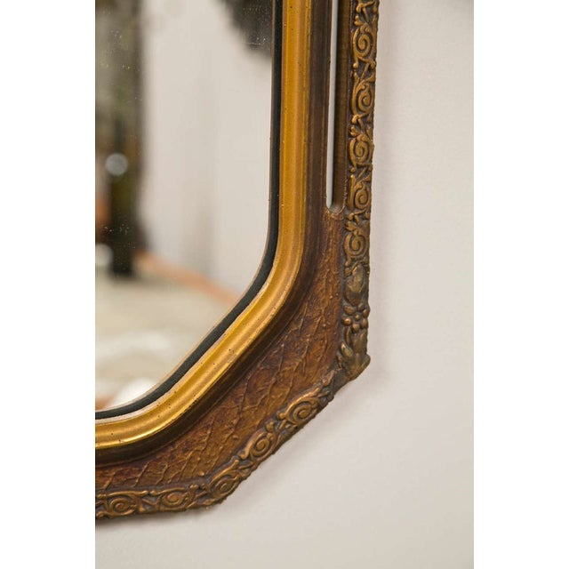 Hollywood Regency Gold Gilt Wooden Wall Mirrors - Pair For Sale - Image 3 of 4