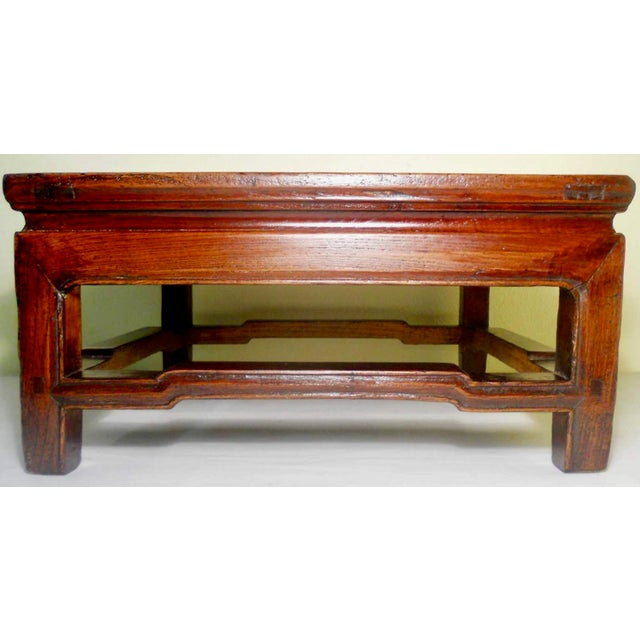 """Asian Antique Elmwood Chinese Ming """"Kang""""/Coffee Table For Sale - Image 3 of 9"""
