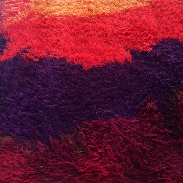 "Mid-Century Abstract RYA Shag Rug - 7'10"" X 10'10"" For Sale - Image 5 of 8"