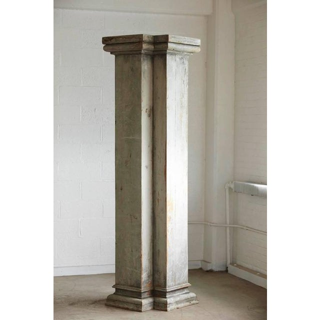 Distressed Tall Wooden Architectural Column with Patina For Sale - Image 9 of 9