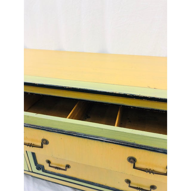 Vintage Painted Credenza Dresser For Sale In Raleigh - Image 6 of 12
