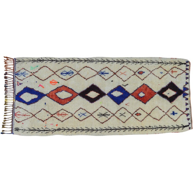 Textile Vintage Moroccan Azilal Rug - 8'7'' x 4' For Sale - Image 7 of 7