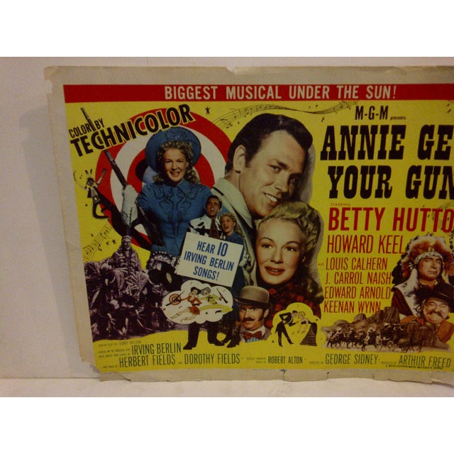 "Contemporary Vintage Movie Poster ""Annie Get Your Gun"" Betty Hutton - 1950 For Sale - Image 3 of 5"