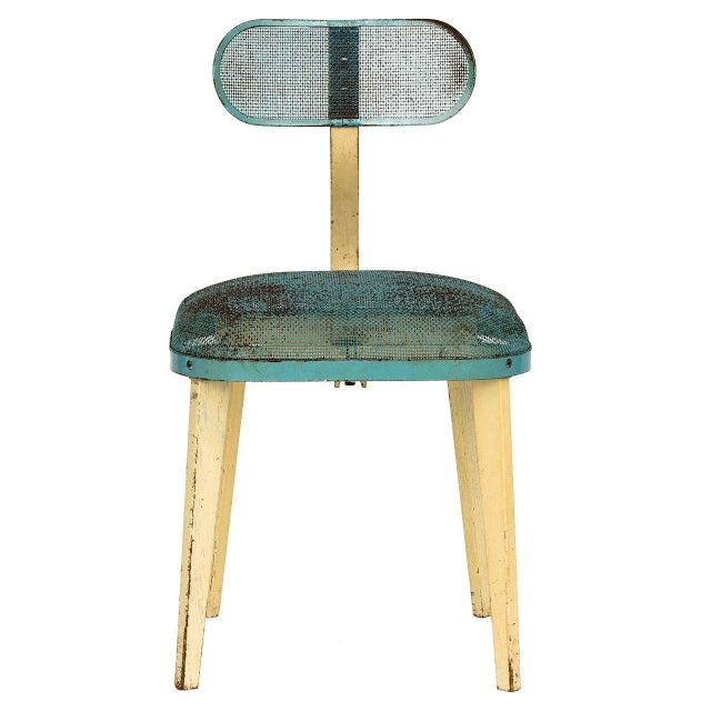 Metal Mesh Chair in the Manner of Jean Prouve For Sale - Image 11 of 11