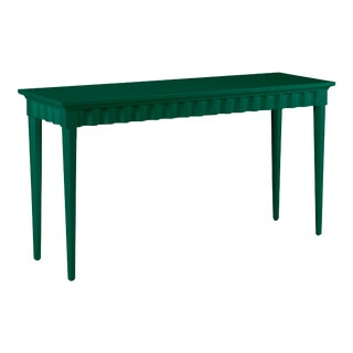 Casa Cosima Flutter Console, Chrome Green For Sale