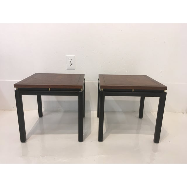 Pair of Midcentury, Asian style tables, designed by Michael Taylor for his line, New World. Nice, clean lines that could...
