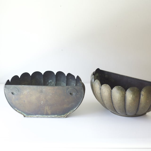 Mid-Century Modern Wall Planters - A Pair For Sale - Image 4 of 5