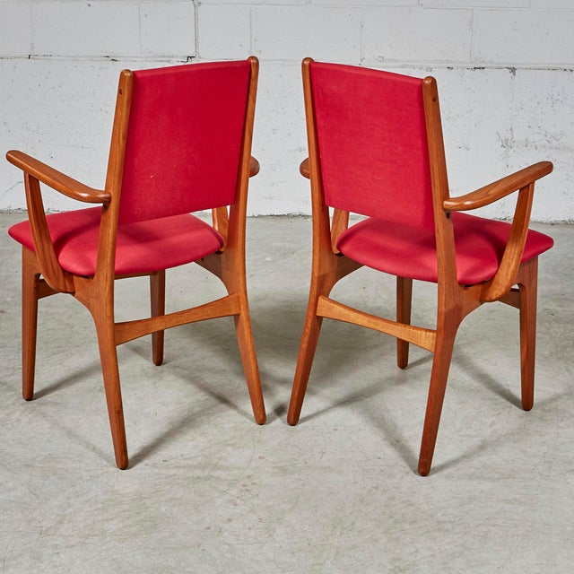 1970s Teak Dining Table & Chairs For Sale - Image 12 of 13
