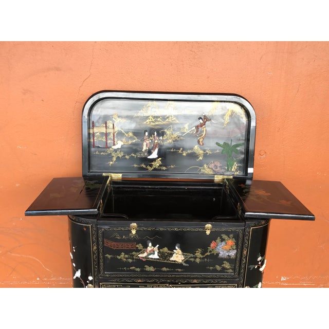 Stone Lacquer and Inlay Hardstone Chinese Dry Bar For Sale - Image 7 of 8