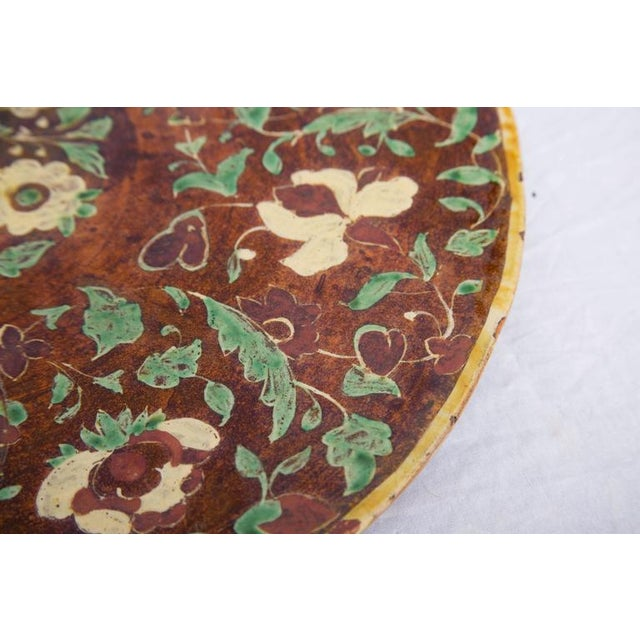 Early 19th Century Italian Painted and Glazed Terra Cotta Charger For Sale - Image 5 of 8