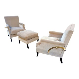 Maurice Rinck Superb Pair of Adjustable Chairs & One Bench For Sale