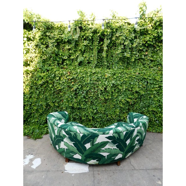 Palmier Curved Art Deco Sofa For Sale In San Francisco - Image 6 of 11