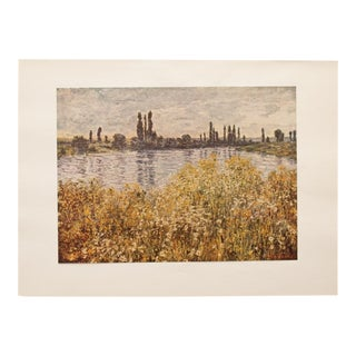 "Vintage ""Banks of the Seine"" Lithograph by Claude Monet For Sale"