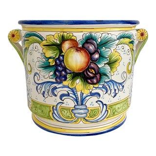 Giant Italian Firenze Ceramic Jardiniere Planter For Sale