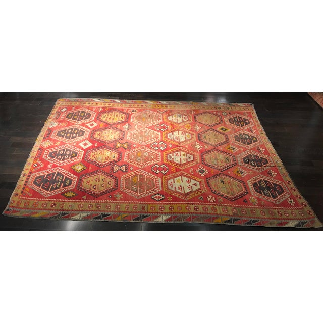 "Bellwether Rugs Vintage Turkish Kilim Rug - 8'3"" x 10'8"" - Image 3 of 11"