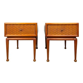 1950s Vintage Single Drawer End Tables - a Pair For Sale