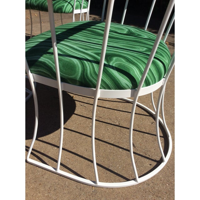 Restored Mid-Century Platner Style Round Table & Chairs For Sale - Image 9 of 12