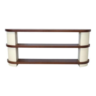 Donald Deskey Attributed Art Deco Moderne Console or Entry Shelf Unit For Sale