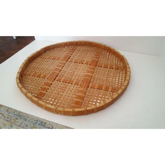 Large Vintage Bamboo Fish Drying Basket - Image 3 of 6