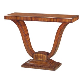Art Deco Rosewood and Brass Strung Console Table For Sale