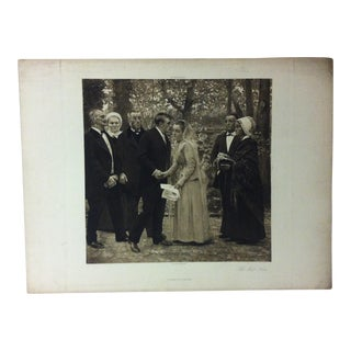 """Antique Photogravure on Paper, """"The First Kiss"""" from D. Appleton & Co - Circa 1860 For Sale"""