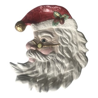 Vintage Fitz and Floyd Crescent Santa Dish For Sale