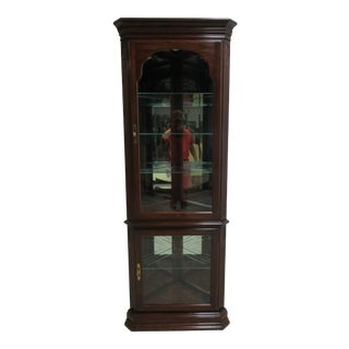 Ethan Allen Georgian Court Cherry Corner Cabinet For Sale
